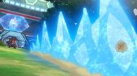 Mega-Garchomp usando roca afilada.