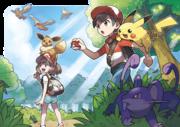 Artwork de protagonistas Let's Go Pikachu! y Let's Go Eevee!.png