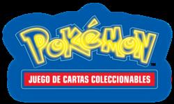 Logo en neón del JCC Pokémon, con motivo de la expansión Detective Pikachu.