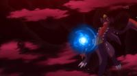 Mega-Garchomp usando furia dragón.