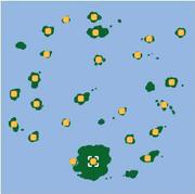 Localización de Isla Mandarín/Mandarina (sur).