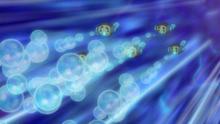 Tympole usando Rayo burbuja.