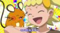 Bonnie/Clem junto a sus Pokémon.
