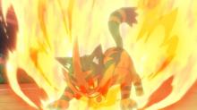 Torracat de Ash usando nitrocarga en un flashback del EP1079.