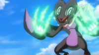 Noivern de Ash usando garra dragón.