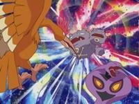 Fearow usando ataque furia.