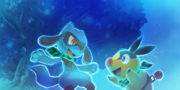 Riolu y Tepig Pokémon Mundo Megamisterioso.png