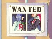 El Cartel donde aparecen Jessie y James a la entrada de Ciudad Verde/Viridian.