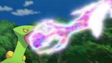 Sceptile usando pulso dragón.