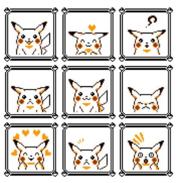 Diferentes estados de animo de Pikachu dentro del juego.