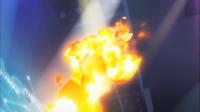 Pyroar de Lysson usando lanzallamas.