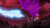 Inkay de James usando psicorrayo (izquierda) en el vídeo del Equipo/Team Rocket.