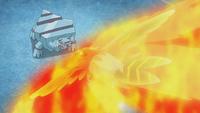 Talonflame de Ash usando nitrocarga.