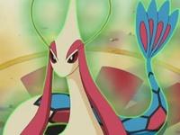 Milotic usando velo sagrado en el Concurso Pokémon de Portual.