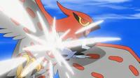 Fletchling de Ash usando picotazo.
