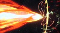 Mega-Rayquaza usando hiperrayo
