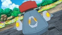 Probopass de Mayla usando bomba imán. Primero ilumina sus mini-narices...