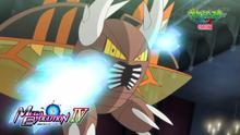 Mega-Pinsir usando doble golpe.