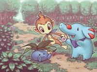 Ilustración de Chimchar y Phanpy en MM.jpg