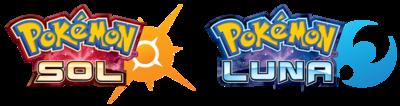 Logo de Pokémon Sol y Pokémon Luna