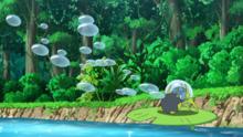 Dewpider usando rayo burbuja