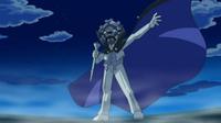 Profesor Tsuraraa usando una máscara de Cryogonal.
