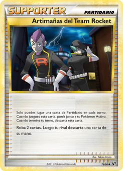 Carta Artimañas del Team Rocket