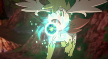 Shaymin usando energibola