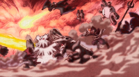 .Noivern de la guerra usando pulso dragón.