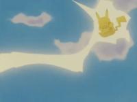 Pikachu usando Rayo.
