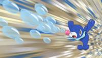 Popplio de Lana/Nereida usando rayo burbuja.