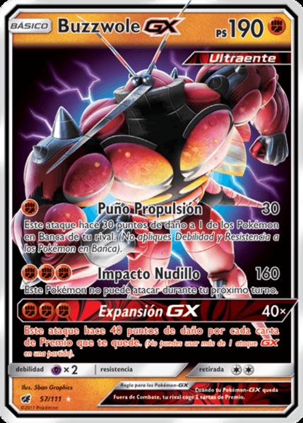 Archivo:Buzzwole-GX (Invasión Carmesí 57 TCG).png