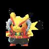 Pikachu Estrella del Rock