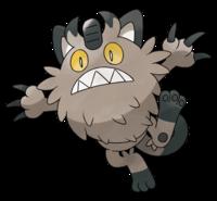 Ilustración de Meowth de Galar
