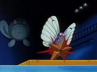 Butterfree de Ash usando placaje en un flashback del EP007.
