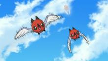 Fletchling de Ash usando doble equipo.
