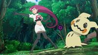 Mimikyu de Jessie usando bola sombra.