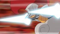 Escavalier usando ataque furia.