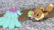 EP1060 Shaymin y Areni vs Mareanie.png
