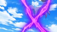 Skorupi de un recluta del Team Flare usando veneno X.