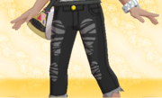 Pantalon Vaquero Desgastado Negro.png