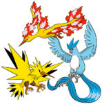 Articuno, Zapdos y Moltres (dream world).png