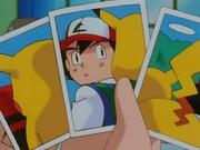 Fotografías de Pikachu de Ash tomadas por el Equipo/Team Rocket.