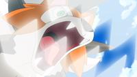 Lycanroc de Ash usando mordisco.