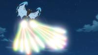 Necrozma alas del alba usando láser prisma.
