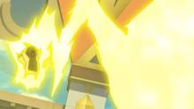 Pikachu de Bettie usando rayo.