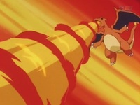 Charizard usando giro fuego.