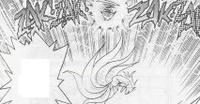 Pikachu usando impactrueno contra Ninetales.