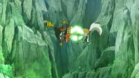 Lycanroc de Ash usando placaje.