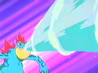Feraligatr usando hidrobomba.